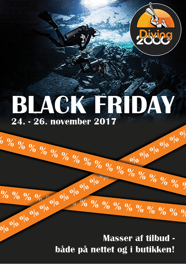 Making a sales folder for Diving 2000's Black Friday event, 2017