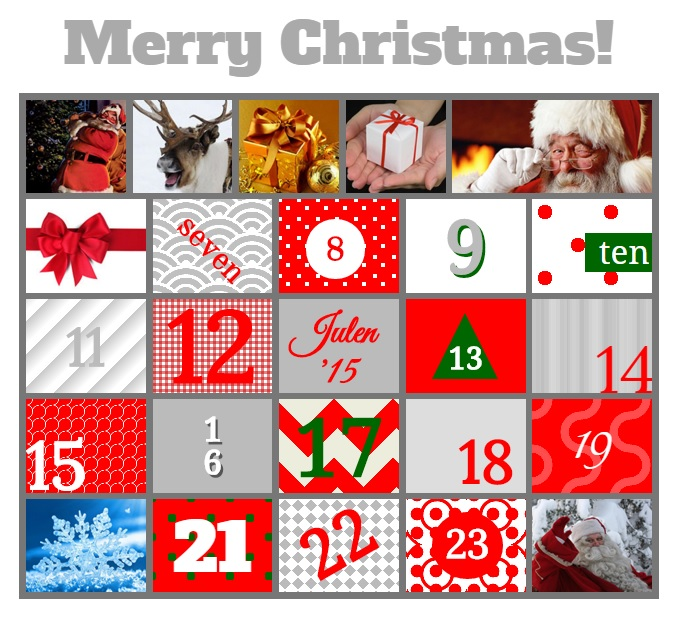 Christmas calendar web app made for 2015 and updated for 2016