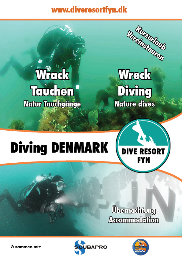 The folder I made to promote the Dive Resort at the 2017 BOOT MESSE. Available both online and printed.