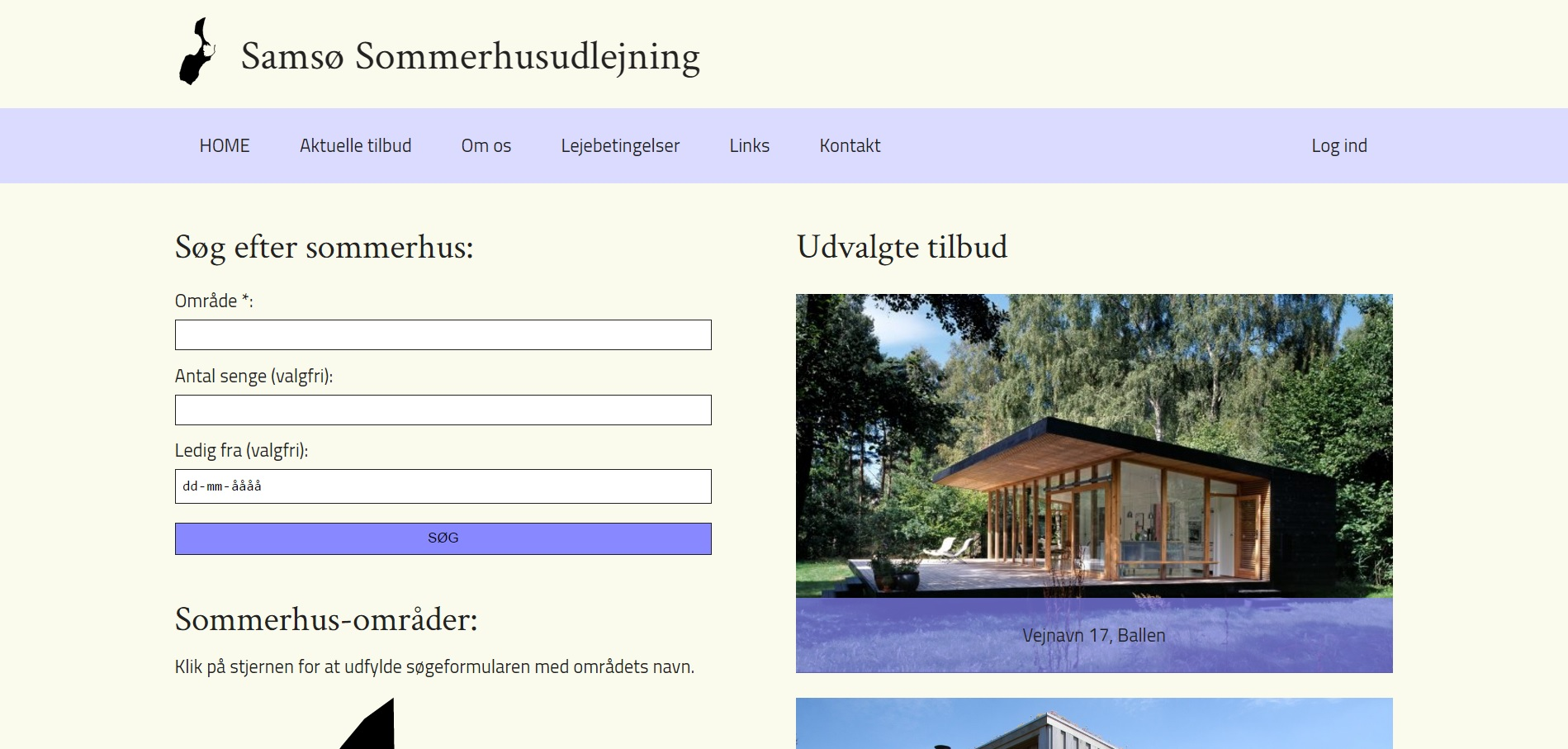 Create a website for a fictitious summerhouse rental company. Customers should be able to make reservations on the site.